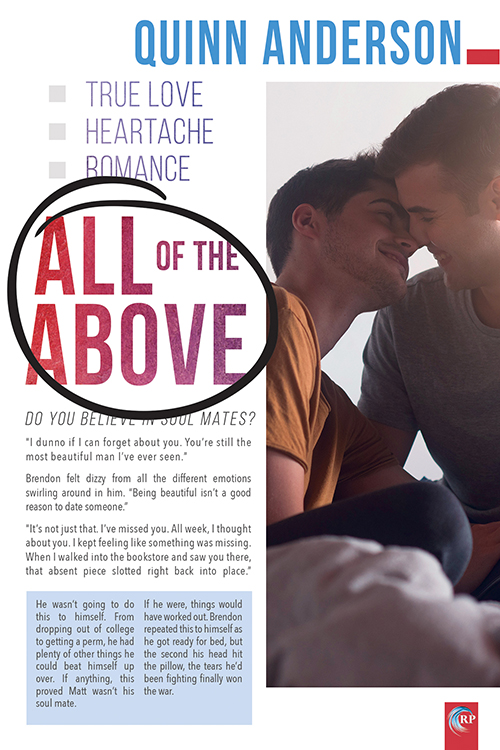 Guest Post and Giveaway: All of the Above by Quinn Anderson