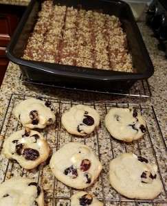 Nut Tree and White Chocolate Cranberry Cookies