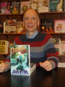 Joe Cosentino at a Barnes & Noble book signing for Drama Queen, the first Nicky and Noah comedy mystery