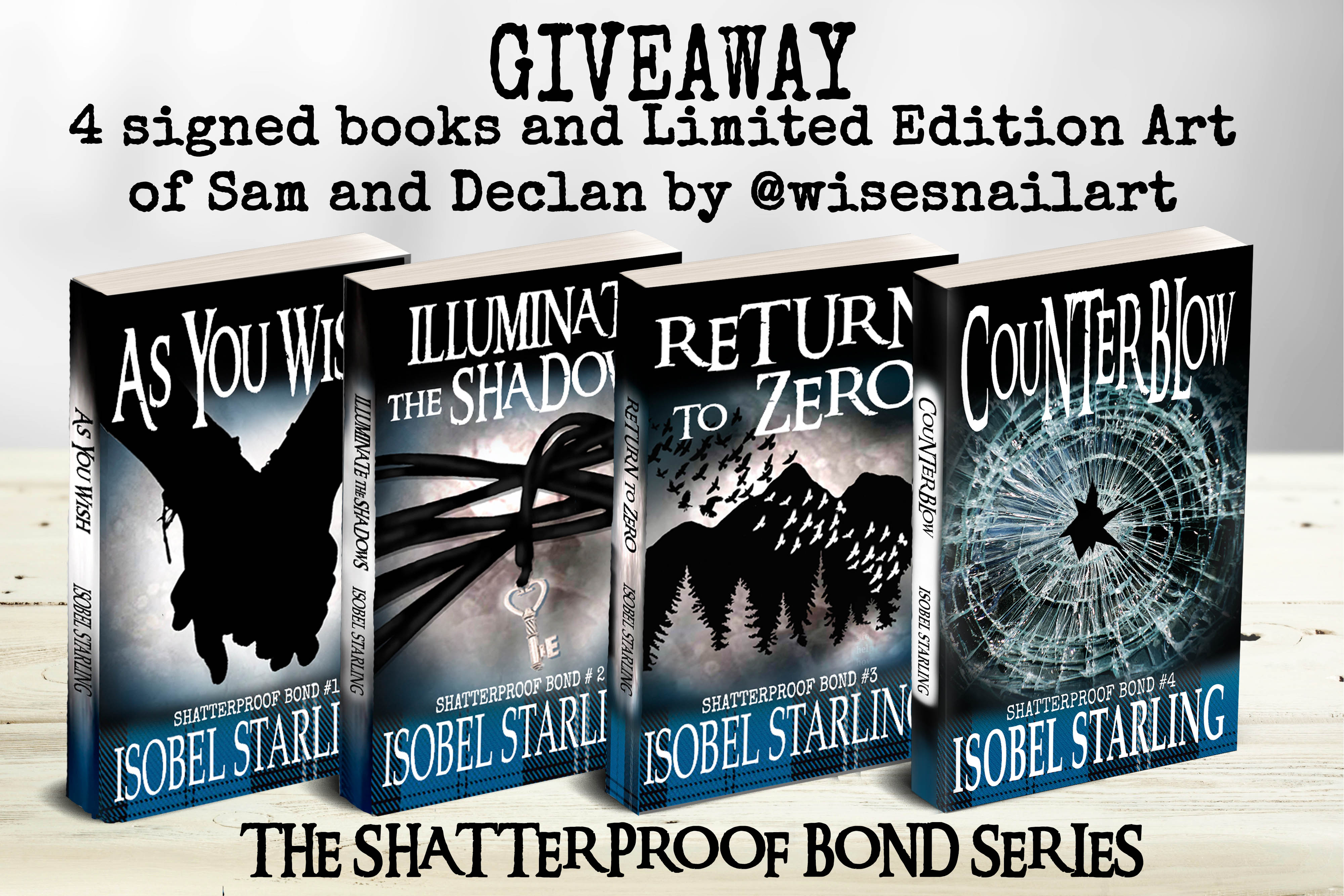 ENTER THE EXCLUSIVE RAFFLECOPTER GIVEAWAY FOR A CHANCE TO WIN A SET OF FOUR SIGNED PAPERBACKS OF THIS THRILLING ROMANCE SERIES
